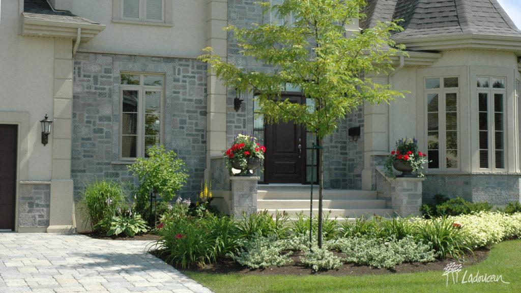 réalisations aménagement paysager de façade ladouceur