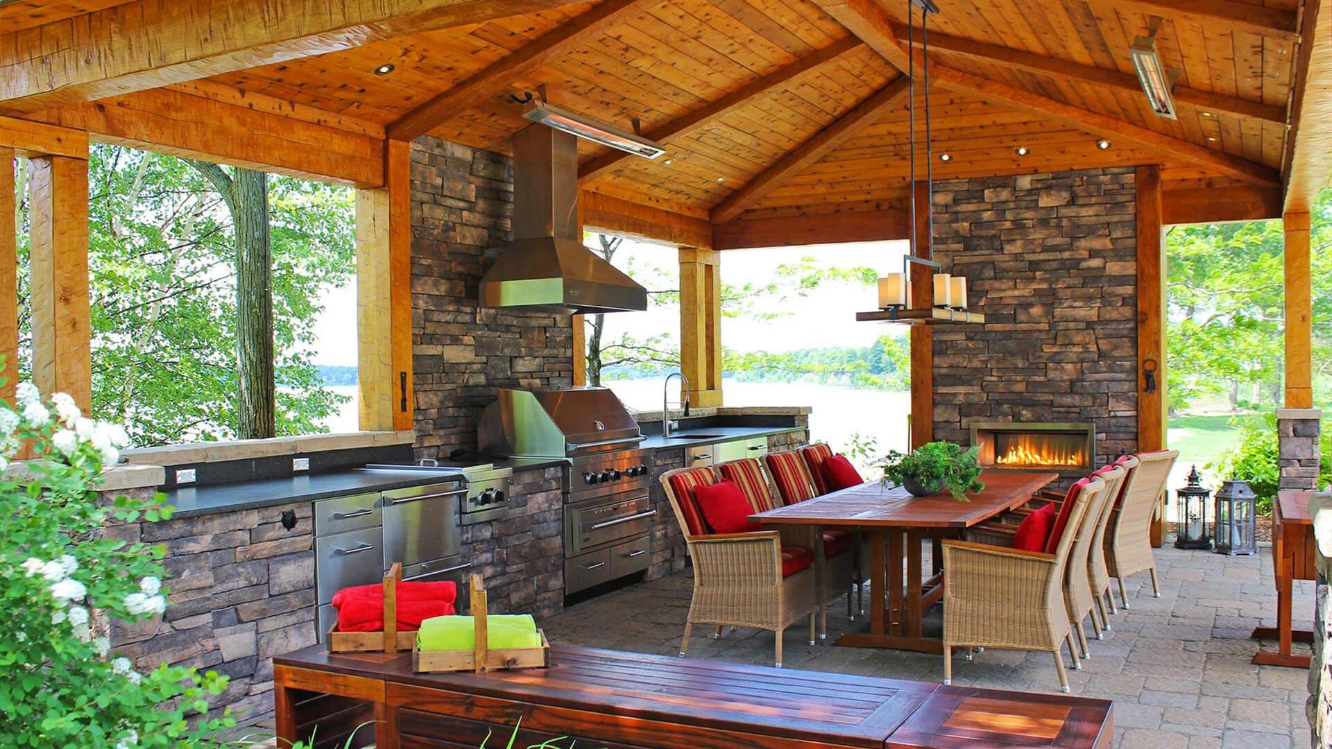 Construire Un Foyer Extérieur cuisine extérieure et bbq - innovations paysagées ladouceur