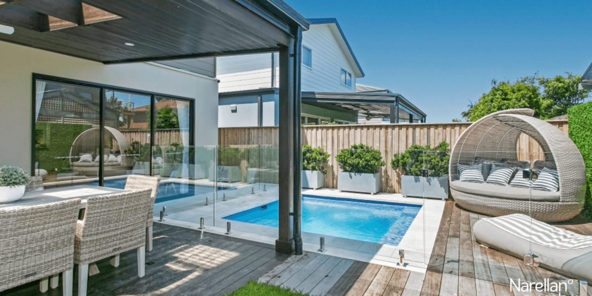 Eden piscine creusée tendances 2021 Narellan par Ladouceur paysagiste