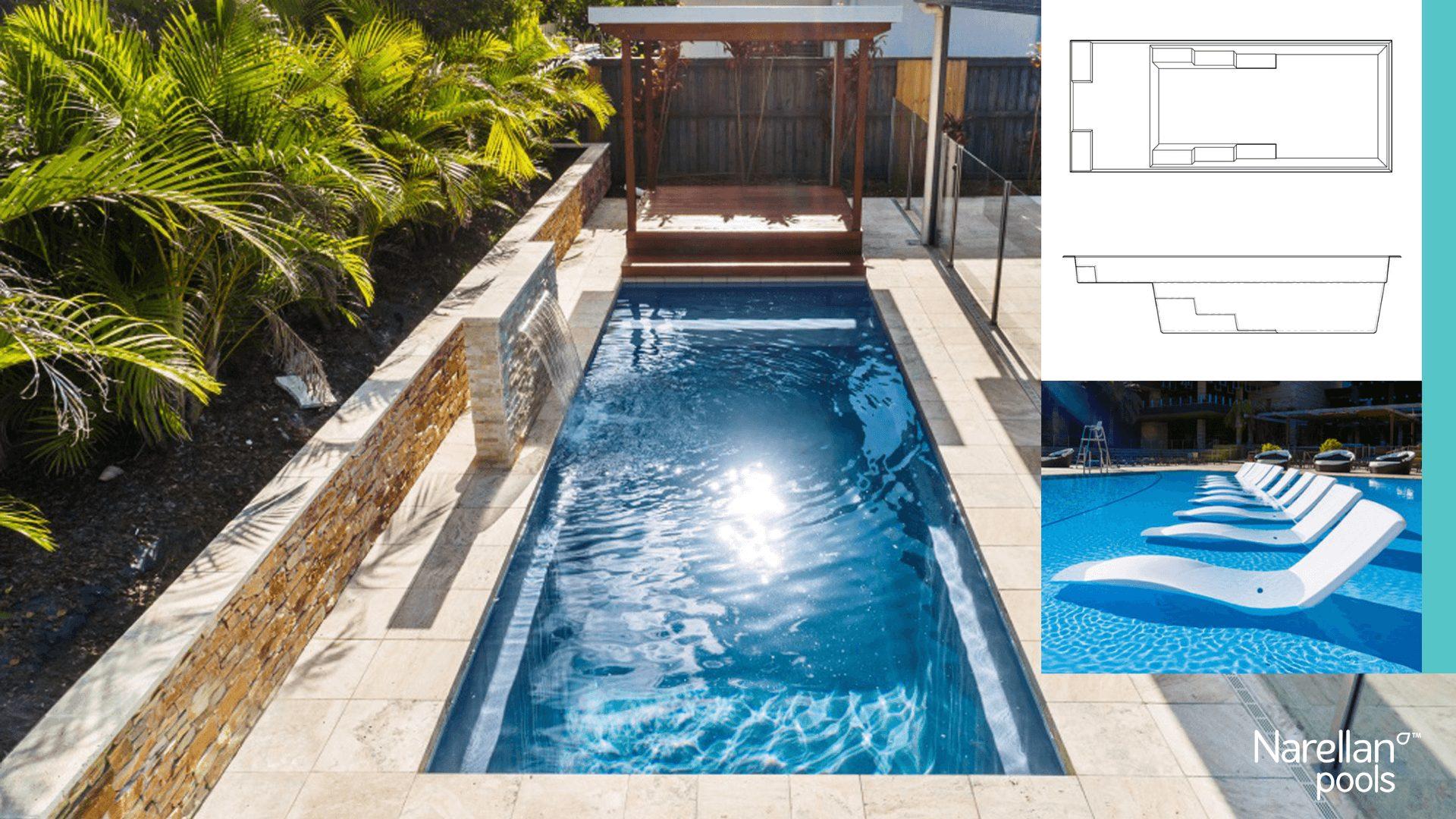 Nirvana piscine creusée fibre de verre Narellan par Ladouceur Paysagiste